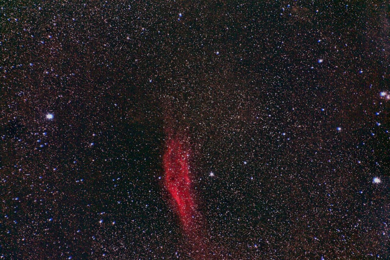 NGC1499_Nébuleuse California_Persée_135mm